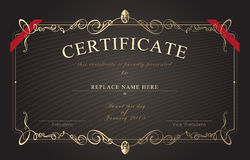 Certificate border, Certificate template. vector illustration Royalty Free Stock Photos