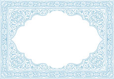Certificate border with floral ornament blank ready inserting text. Floral ornament vintage in symmetric style Royalty Free Stock Photos