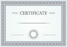 Certificate border Royalty Free Stock Photos
