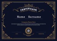 Certificate border flourishes elegant vintage design vector temp vector illustration