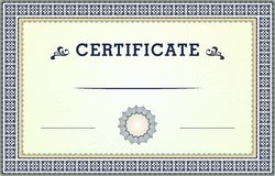 Certificate border Stock Photo