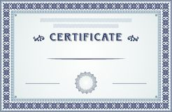 Certificate border and template design Royalty Free Stock Image