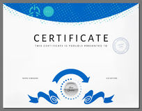 Certificate border template with eco energy elements Stock Photo