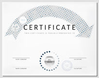 Certificate border template with eco energy elements Royalty Free Stock Images