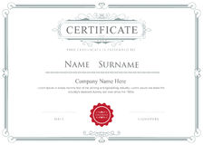 Certificate border vector elegant flourishes template Royalty Free Stock Photo