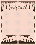 Certificate chocolate. Vector certificate chocolate template for business document Stock Photos