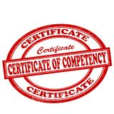 Certificate of competency. Stamp with text certificate of competency inside,  illustration Royalty Free Stock Image
