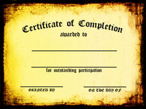 Certificate of Completion Royalty Free Stock Photos