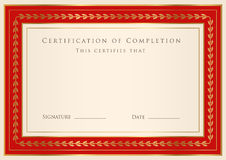 Certificate / Diploma award template. Frame Royalty Free Stock Photos