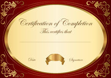 Certificate / Diploma award template. Frame Stock Photo