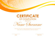 Certificate of completion template royalty free illustration