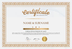 Certificate of Completion Template Stock Images