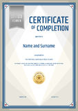 Certificate of completion template in portrait Stock Image