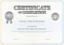 Certificate of completion template in vector Royalty Free Stock Image