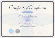 Certificate of completion template in vector with florist Stock Images