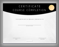 Certificate of computer programming course completion in vector Royalty Free Stock Photos