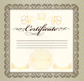 Certificate or coupon for design Stock Photography