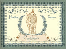 Certificate or coupon for document design Royalty Free Stock Images