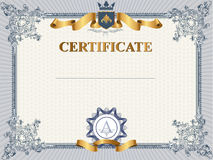 Certificate or coupon template. With vintage border Royalty Free Stock Image