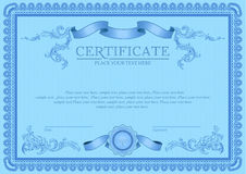 Certificate or coupon template Royalty Free Stock Photo
