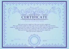 Certificate or coupon template Royalty Free Stock Photos