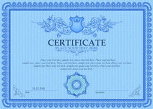 Certificate or coupon template Stock Images