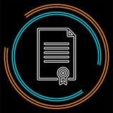Certificate creative icon. element illustration. stock illustration