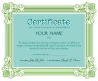 Certificate design Stock Image