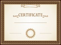 Certificate design Royalty Free Stock Image