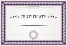 Certificate design Royalty Free Stock Images