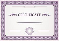 Certificate design stock illustration