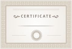 Certificate design Stock Photography
