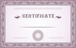 Certificate design Royalty Free Stock Photography