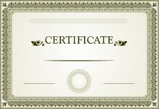 Certificate design Stock Images