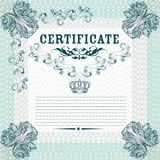 Certificate design in elegant style royalty free illustration