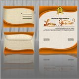 Certificate design template royalty free illustration