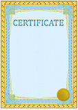 Certificate design template Stock Photos