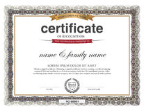 Certificate Design Template. Royalty Free Stock Photography