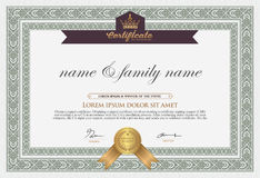 Certificate Design Template. Royalty Free Stock Photo