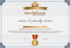 Certificate Design Template. Royalty Free Stock Photos