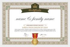 Certificate Design Template. Stock Image