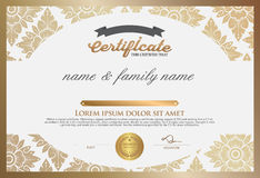 Certificate Design Template. Royalty Free Stock Images