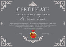 Certificate design template with Thai art frame Royalty Free Stock Photo