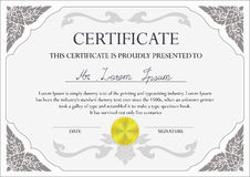 Certificate design template Stock Photography