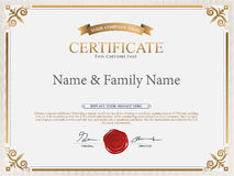 Certificate Design Template. Stock Image