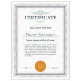 Certificate design template vector Royalty Free Stock Photo
