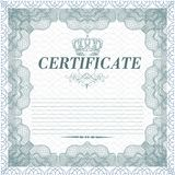 Certificate design in vintage style Royalty Free Stock Photos