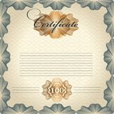 Certificate design in vintage style Royalty Free Stock Images