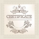 Certificate design in vintage style Stock Photo