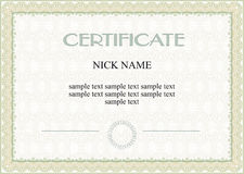 Certificate, diploma Stock Photography